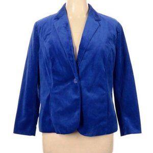 Kim Rogers Cobalt Blue Career One Button Blazer 16